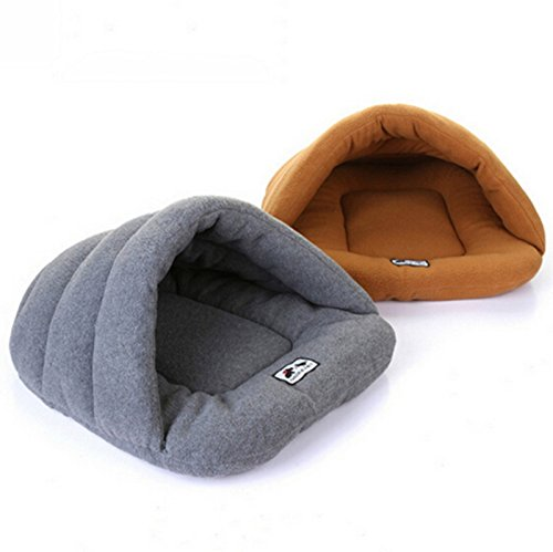 Cheap Warm Sleeping Bags Pet Kennel Pet Nest Dog Litters Medium Small Animal House Sleeping Bag Winter Nest (Xs-l) Gray Color (Gray, L)