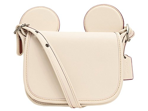 Patricia with Glove Coach Calf Crossbody in Ears Leather Bag Mickey Shoulder Chalk Saddle Z5HqHx0w