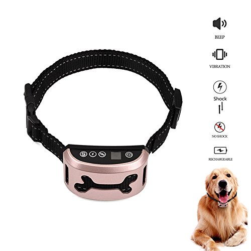 No Bark Collar No Shock Or Safe Shock, NuoYo Dog Bark Collar No Harm With Beep Vibration Sensitivity Anti Barking Control Reflective Training Collar Rechargeable for Small Medium Large Dogs