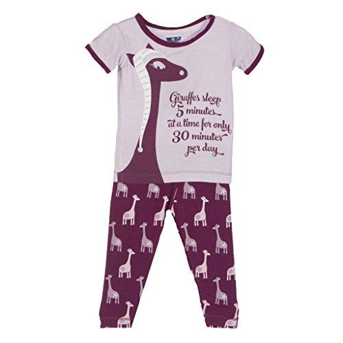 Kicky Pants Print Short Sleeve Pajama Set Little Girls, M...