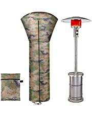 ANUNU Patio Heater Cover Waterproof with Zipper Propane Patio Heater Lamp Camouflage Cover Standing Gas Heater Covers for Home Outdoor Garden, 89 x 33 x 19 Inch