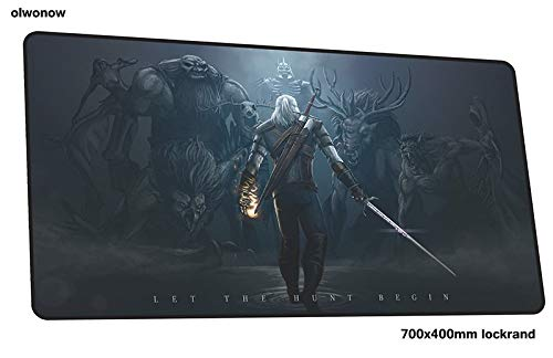 HTACSA Witcher Mousepad 700X400X3Mm Christmas Gifts Gaming Mouse Pad Gamer Mat Colourful Game Computer Desk Padmouse Keyboard Play Mats