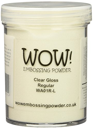 Wow Embossing Powder Large Jar 160ml-Clear Gloss Regular