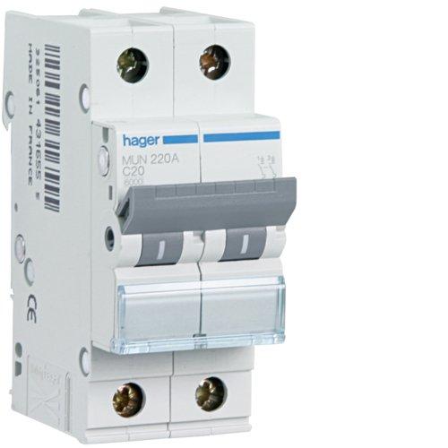 2P 6KA 25 A Hager MUN225A Disjoncteur automatique magn/étothermique s/érie MU courbe/C