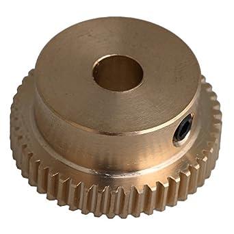 CNBTR 26 x 12 x 6 mm, latón amarillo, 0,5 módulos,