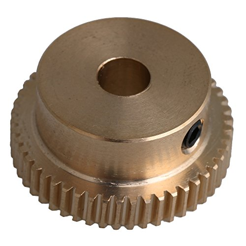CNBTR 26x12x6mm Yellow Brass 0.5 Modulus 26mm Outer Dia 50 Teeth Worm Gear Wheel Accessory with Screws for Gear Box Shaft Driving - Small Worm Gear
