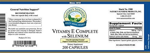 Vitamin E Complete with Selenium â€'' antioxidants - 200 Softgs