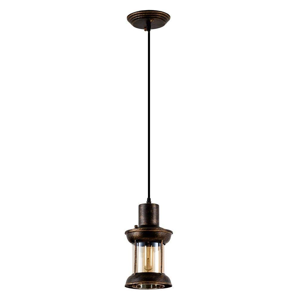 Vintage Industrial Pendant Light, MKLOT Ecopower Minimalism Retro Ceiling Chandelier Lighting Fixture with Oil Rubbed Bronze Finish for Home Kitchen