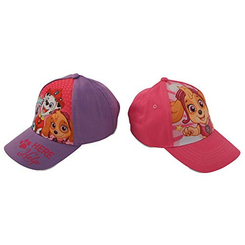Nickelodeon Little Girls Paw Patrol Character Cotton Baseball Cap, 2 Piece Design Set, Age 2-7 (Toddler Girls – Age 2-4 (51CM))