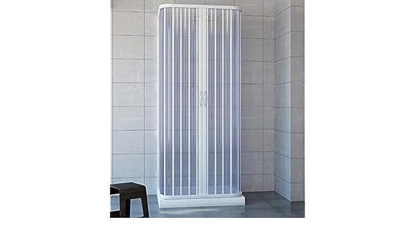 Cabina de ducha de 3 lados con fuelle, 100 x 100 x 100 cm ...