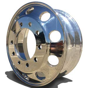 Accuride 22.5'' x 8.25'' Quantum 99 Aluminum 10x285mm Mirror Polished Both Sides Wheel (42644XP) by Accuride (Image #2)