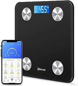 New Digital Electronic Bathroom Scale 180KG Backlit Weight Management (Black Bluetooth 2)