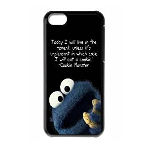 Exquisite Customized Funny Lovely Cookie Monster iPhone 5c Case Cover ,Plastic Shell Hard Back Cases For Fans At CBRL007