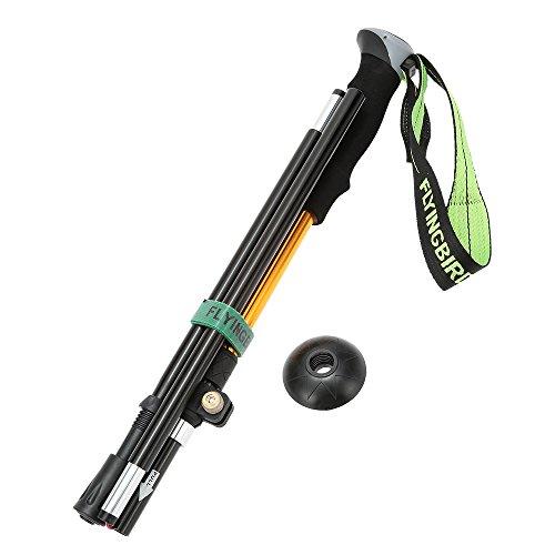 New Arrival Walking Stick Folding Adjustable Telescopic Hiking Trekking Pole with Bastones Senderismo (Orange) by Unknown