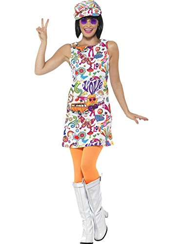 - Smiffys Women's 60s Groovy Chick Costume, Multi, Medium
