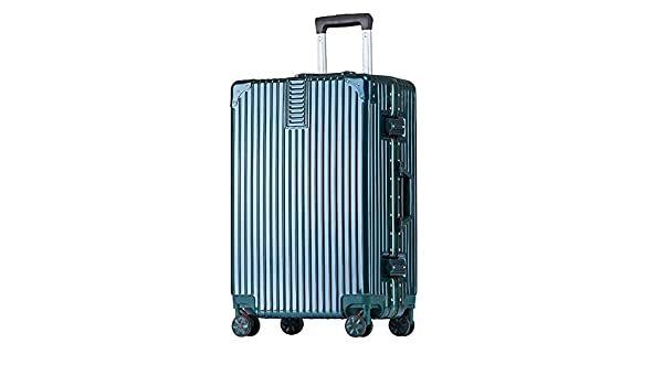 MING REN Luggage Sets Trolley case ABS//PC 2 sizes availa comfortable handle built-in password lock 4 colors stylish small fresh and bright aluminum frame caster student large capacity suitcase
