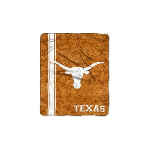 Officially Licensed NCAA Texas Longhorns Jersey Sherpa on Sherpa Throw Blanket, 50' x 60'