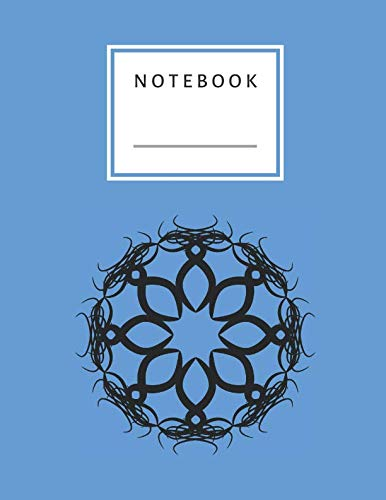 Notebook: Blue Cover and Circle Symbol Numbered 120 Pages Witch Lines Letter Size 8.5 x 11 - A4 Size (Journal, Notes, Notebook, Diary, Composition Book) Soft Cover (Symbol A Circle Perfect)