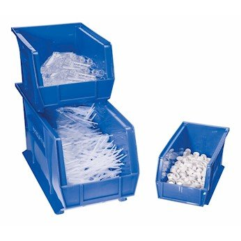 Akro-Mils 30250 BLUE Stackable Bin, 7'' High 16.5 in W x 7 in H x 14.75 in D