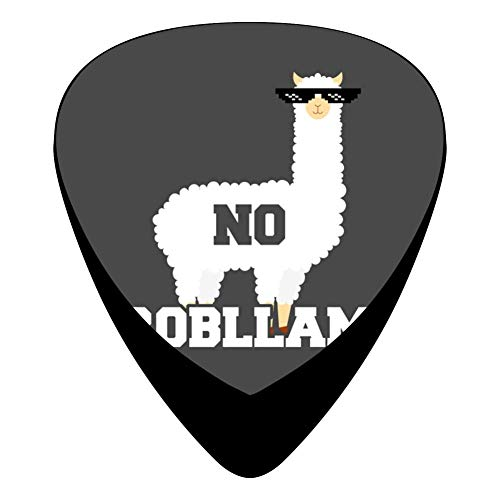 No Probllama Funny Animal Always Be a Llama Guitar Picks Celluloid 12 Pack Shape For Acoustic Guitar Mandolin Electric Guitar And Bass ()