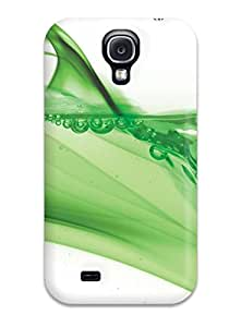 Top Quality Case Cover For Galaxy S4 Case With Nice Green Water Appearance