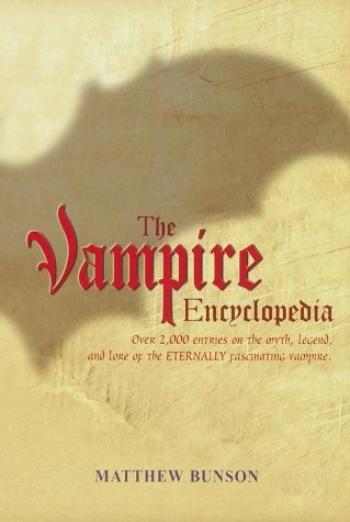 Vampire Encyclopedia Matthew Bunson product image