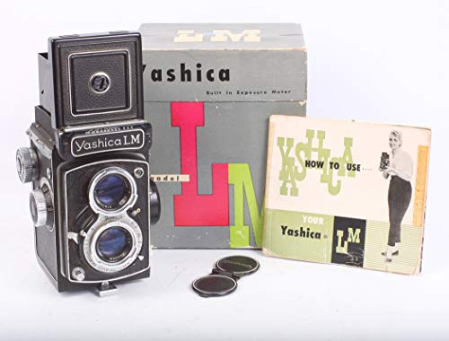Yashica LM Camera W/Built in Working Meter, 120MM Film Camera W/Box & Manual