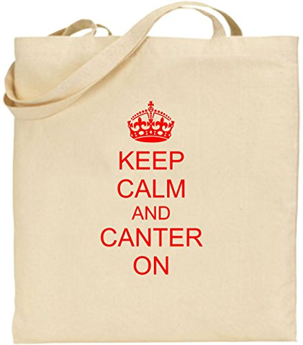 Keep Large Shopping Cool Calm Cotton Tote On Red Bag Present Canter Xmas Fun And 1xHUIrq1
