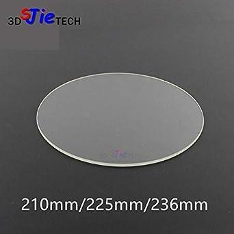Amazon.com: Zamtac - Placa redonda de vidrio de borosilicato ...