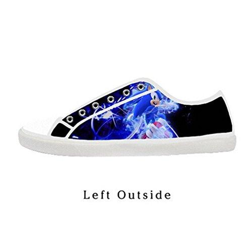 Custom Women Sonic the Hedgehog Canvas Shoes Comfortable Sneakers US9 (Sonic The Hedgehog Sneakers)