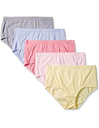 Fruit Of The Loom Women's Plus-Size 5 Pack Fit For Me...
