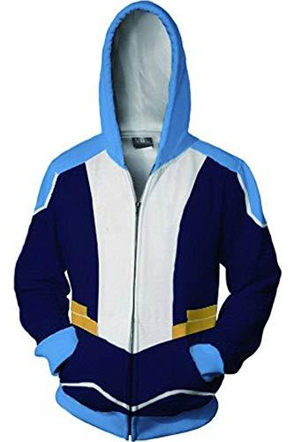 BeautifulTimes Adult Halloween Costume Paladins Hoodie 3D Printed Coran Zipper Jacket Sweatshirt ()