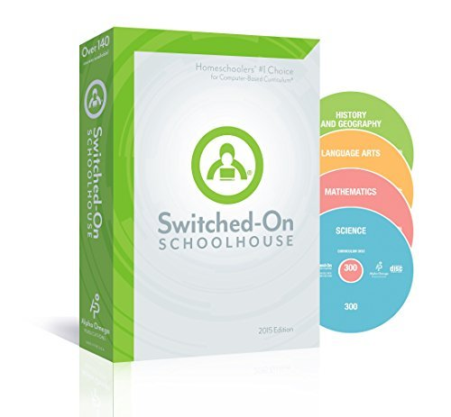 2015 Switched on Schoolhouse, Grade 7, AOP 4-Subject Set - Math, Language, Science & History / Geography (Alpha Omega HomeSchooling), SOS 7TH GRADE CD-ROM Curriculum, Core Subject Set