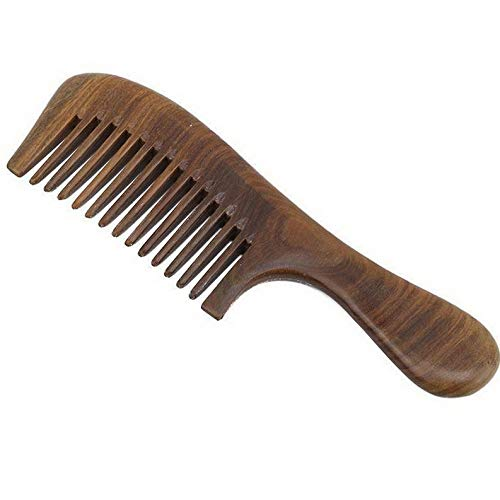 (Werrox 1 pc Anti-static Sandal Wood Comb FineCoarse Toothed Comb Hair Comb Brush H | Model HRBRSH - 296)