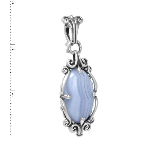 Carolyn Pollack Sterling Silver Blue Lace Agate Pendant Enhancer by Carolyn Pollack (Image #1)