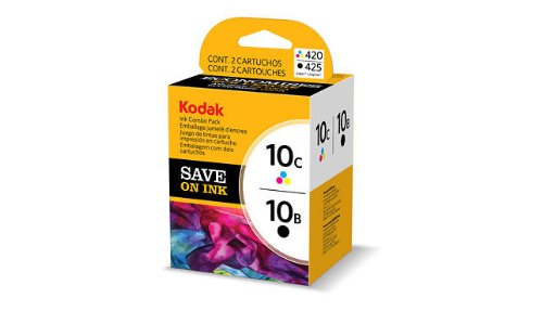 Kodak 10B/10C Combo Ink Cartridge - Black/Color - 1 Year Limited Warranty (Ink Black 5500)