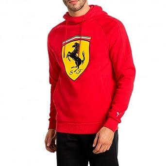 Puma Ferrari Big Shield Homme Sweat Rouge
