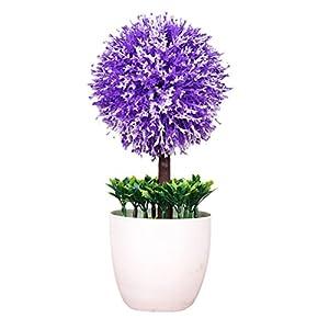 Zhuhaitf Artificial Flowers Bonsai Plants Snowball flower for Indoor Office Decor 66