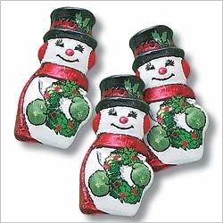 Christmas Snowman Solid Milk Chocolate (1 Lb - Approx 55 Pcs)