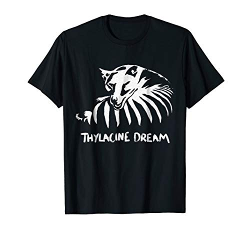 (Thylacine Dream Sleeping Tasmanian Tiger Graphic T-shirt)