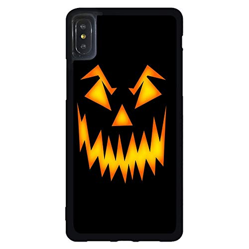 Skinsends Hippie Halloween Scary Pumpkin Face Back Cover Compatible with iPhone Xs Max, Hard Plastic Previous Cases Compatible with iPhone Xs Max -