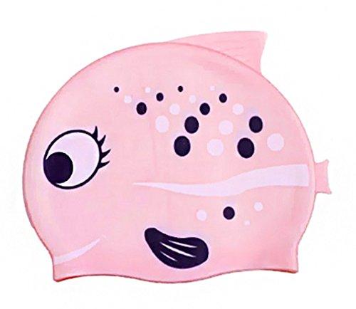 Simplicity Kid's Adorable Pink Cartoon Animal Swimming Cap