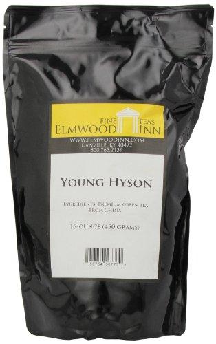 Elmwood Inn Fine Teas, Young Hyson Green Tea, 16-Ounce Pouch
