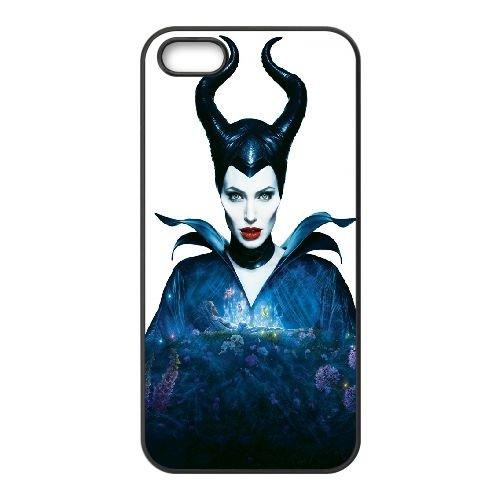 Maleficent Angelina Jolie Horns Fairy Tale 95665 coque iPhone 5 5S cellulaire cas coque de téléphone cas téléphone cellulaire noir couvercle EOKXLLNCD25724