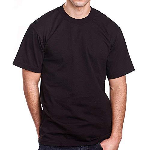 Pro 5 Men's Super Heavy Short Sleeve Crew Neck T-Shirt, Black, X-Large (3 Pack)