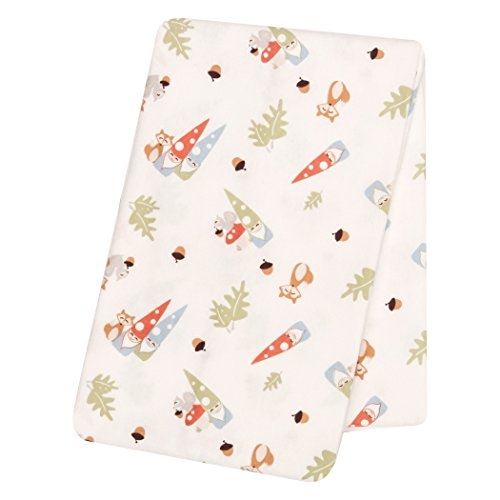 Red White Mushroom (Trend Lab Forest Gnomes Deluxe Flannel Swaddle Blanket)