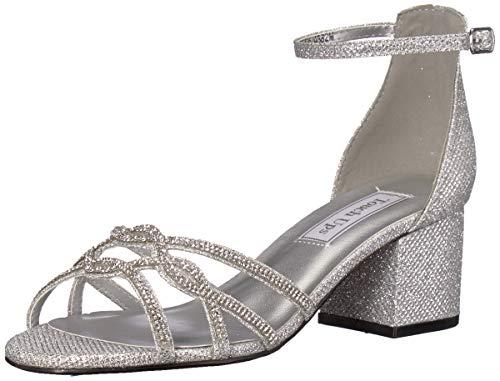 (Touch Ups Women's Zoey Sandal, Silver, 8.5 W US)