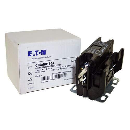 (CUTLER HAMMER C25-ANB130A Compact, 30AMP, 1POLE, Quad QC, 120VAC Coil )