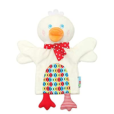 Alician Cute Cartoon Animal Duck Monkey Hand Puppet Parent-Child Hand Doll Kindergarten Story Duckling 25cm: Home & Kitchen