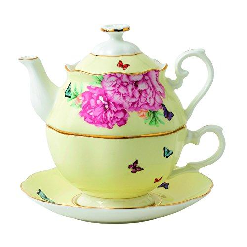 Royal Albert 40025888 Miranda Kerr Joy Tea for One, 3 Piece Set, Multicolor